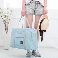 可折�B旅行包大容量手提行李包行李袋女短途旅游包可套拉�U旅行袋 中
