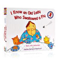 吞下苍蝇的老奶奶I Know an Old Lady Who Swallowed a Fly英文原版绘本 吴敏兰绘本1