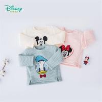 【139元3件】迪士尼Disney童装男女童圆领肩开套头卫衣迪士尼宝宝形象春秋新款卫衣193S1132