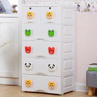 大号卡通抽屉式收纳箱塑料儿童衣柜玩具整理收纳盒宝宝衣服储物箱