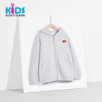 爱居兔童装2018秋季新品男大童休闲时尚针织长袖纯色外套