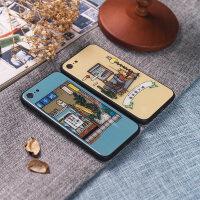 日系 iPhoneX手机壳iphone6/7/8保护壳苹果7p/8p钢化软胶防摔包壳