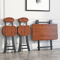 【限时7折】折叠桌子餐桌家用小桌子简易租房小方桌摆摊桌椅户外便携式吃饭桌