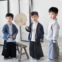 汉服男童2018新款冬季加厚加绒儿童唐装男宝宝套装中国风童装