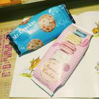 韩国韩版趣味饼干零食笔袋卡通创意学生文具收纳零钱包软