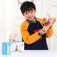逻辑思维通关玩具河内塔 木质汉诺塔十层小学生早教儿童游戏