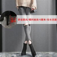 细跟马丁短靴秋冬季2018新款网红靴子加绒百搭时尚防水台高跟女鞋SN1299 黑色 绒里