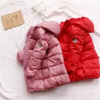女童羽绒服外套儿童中长款 加厚中大童童装男女宝宝秋冬装大棉衣