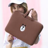 可爱手提小米笔记本内胆包12寸14韩版时尚女13.3寸苹果15.6电脑包