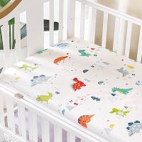定做纯棉床笠新生儿全棉床罩儿童宝宝幼儿园床品床单定制 恐龙乐园 A