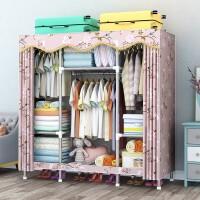 衣柜简易布衣柜全钢架租房钢管加粗加固加厚家用挂衣服收纳柜布橱