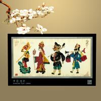 陕西皮影工艺品摆件创意办公室桌面摆件皮影装饰画