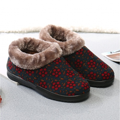 冬季老北京布鞋女鞋高帮防滑保暖棉鞋老年人鞋子厚底中老人妈妈鞋   走进大自然的怀抱,美丽从这里起步。