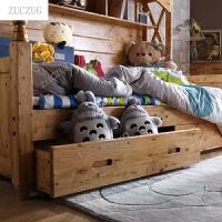 zuczugZUCZUG柏木家具衣柜床1.2米卧室家具上下床带柜子多功能高低储物床