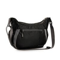 运动包女包女士斜挎包尼龙包大包单肩斜跨包ipad包背包单肩包 黑色