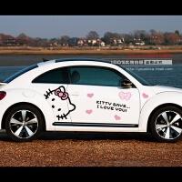 奔驰smart宝马mini polo整车贴全车贴kitty凯蒂猫汽车贴纸 汽车用品