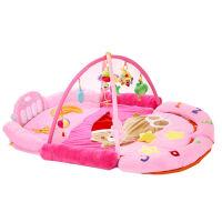 婴儿脚踏钢琴健身架器新生宝宝玩具毛绒游戏毯带音乐