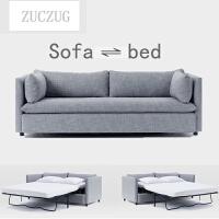 ZUCZUG北欧沙发床可折叠推拉两用单人双人布艺小户型客厅简约多功能沙发 2米以上