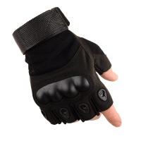 户外半指手套男夏运动健身哑铃护腕黑鹰记防滑骑行运动战术手套