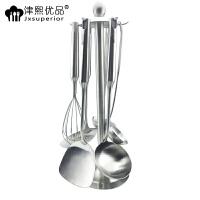 津熙优品(Jxsuperior) 304不锈钢厨具7件套锅铲勺打蛋器火锅汤勺漏勺组合套装