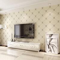 立体仿鹿皮绒格纹无纺布壁纸卧室客厅沙发电视背景墙墙纸