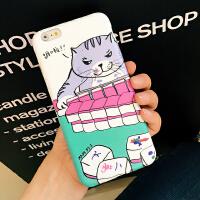 韩国卡通可爱猫咪iPhone6s plus手机壳保护壳软套 软妹手机套情侣