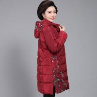 №【2019新款】送妈妈的冬装棉衣中长款加厚中老年女装羽绒棉袄中年外套洋气