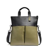 【当当自营】蔻驰(COACH)新款简约时尚男士皮质拼接斜挎包手提包 F11740
