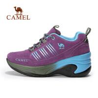camel 骆驼户外女款徒步鞋 耐磨反绒皮时尚女士户外鞋