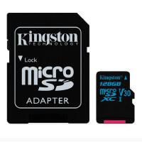Kingston金士顿 128GB TF(Micro SD) 存储卡 运动摄像机无人机内存卡U3 C10 V30 读速