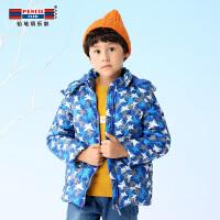 铅笔俱乐部童装2018冬季新款男童棉衣中大童连帽外套儿童加厚外套