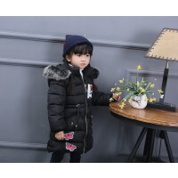 女童冬季棉衣中长款儿童加厚外套潮羽绒