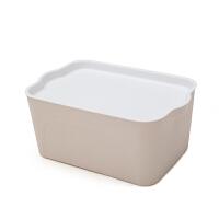 有盖塑料储物箱收纳盒收纳箱居家整理箱内衣服收纳箱加厚大号抽屉