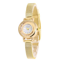韩版时尚潮流女士手表 细网带石英手表 镶钻流沙女士手表 网带手表