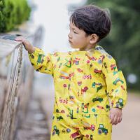 儿童连体雨衣雨裤男童女童秋防水衣小孩幼儿园宝宝雨披滑雪服套装 柠檬黄 黄汽车连体雨衣