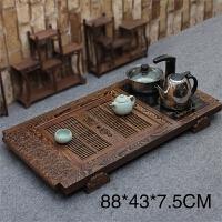 四合一电热炉鸡翅木柯木黑檀木大茶盘套装实木台茶托茶海功夫茶具