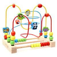 小硕士儿童宝宝益智大串珠绕珠积木质玩具18个月宝宝1-2-3-6周岁