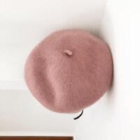 贝雷帽女秋冬立体韩版甜美日系画家帽可爱呢加厚蓓蕾帽子yly M(56-58cm)