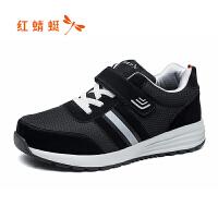 【红蜻蜓618开门红、领�患�100】红蜻蜓中老年运动鞋春季新品广场晨练健步老年鞋情侣鞋子