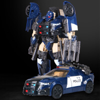 黑曼巴 变形机器人 儿童变形玩具车