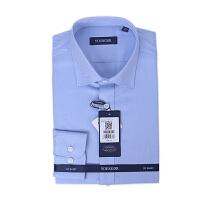 youngor/雅戈尔 新品衬衫 DP16280IQA男士商务休闲蓝色纯棉免熨长袖衬衣