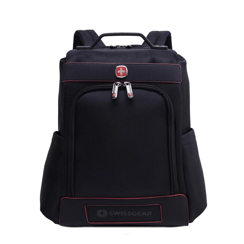 瑞士军刀SWISSGEAR商务经典款电脑双肩包SA7677BL
