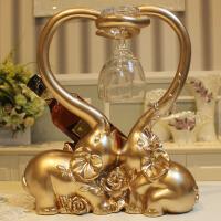 创意大象酒架树脂摆件欧式家居装饰品酒柜红酒架葡萄酒瓶架子结婚礼物