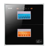 鸥莱茵(OLEYIN)消毒柜 家用 消毒柜嵌入式紫外线臭氧可透视创新设计消毒碗柜厨房 黑色