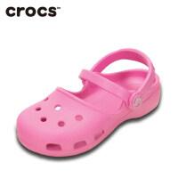 Crocs女童凉鞋 秋 公主鞋儿童卡琳小克骆格洞洞鞋凉鞋|202822