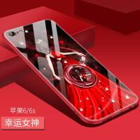 iphone6保护套苹果6手机壳6s外壳6plus女6p玻璃sp硅胶ip6全包防摔pulsi6网