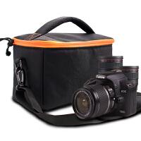 佳能相机包单反单肩便携摄影包700D750D70D100DM3M6微单80D200D 中号加厚(送腰带+肩带+防雨罩)