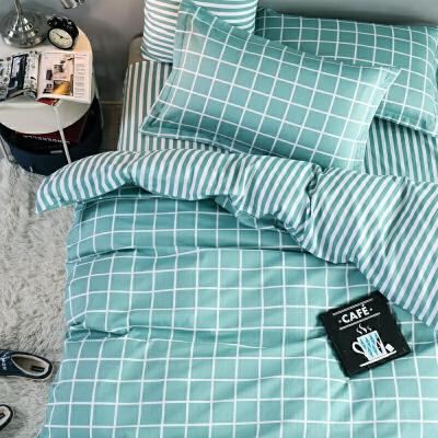???床单三件套学生宿舍单人1.2米床上用品0.9m儿童被套被罩全棉