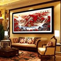 钻石画风景鸿运当头贴钻十字绣风水靠山客厅办公室满钻