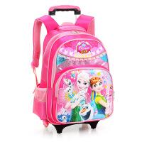 小学生拉杆书包男女童背包儿童书包拉杆可拆卸1-3-6年级闪光2轮托运书包大容量双肩包